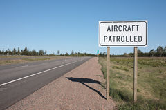 Aircraft Patrolled Sign Royalty Free Stock Photo