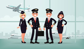Free Aircraft Personnel. The Crew Of Civil Airplane In The Airport Bu Stock Photography - 80899462