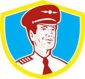 Aircraft Pilot Aviator Shield Retro Stock Photography