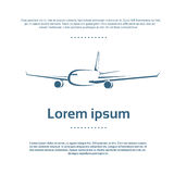 Aircraft Plane Logo Color Icon Vector. Illustration Stock Image
