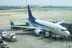 Aircraft the plane prepares  flight Stock Photos