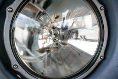 Aircraft porthole window Stock Photo