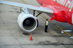 Aircraft prepare to take off Stock Photography