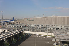 Haneda International airport in Tokyo, Japan. Stock Image