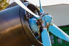 Aircraft propeller close-up royalty free stock image