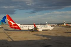 Aircraft of Qantas Royalty Free Stock Photo