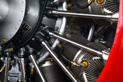 Aircraft radial engine Stock Photos