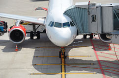 Aircraft ready for boarding Royalty Free Stock Images