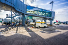 Aircraft ready for boarding Stock Photo