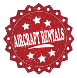 Aircraft rentals grunge stamp. Aircraft rentals grunge red stamp on white background Stock Photography