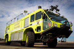 Aircraft Rescue and Fire Engine. Scottsdale airport aircraft rescue and fire engine Royalty Free Stock Photography