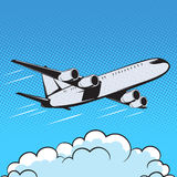 Aircraft retro style pop art air royalty free illustration