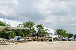 Aircraft on The Royal Thai Air Force Museum Royalty Free Stock Images