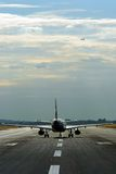 Aircraft on the runway Royalty Free Stock Photography