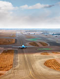 Aircraft on runway Royalty Free Stock Photos