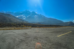 Aircraft Runway of Jomsom Stock Images