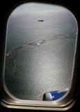 Aircraft's porthole Royalty Free Stock Photos