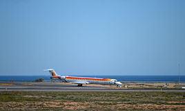 Aircraft With A Sea View At Airport Stock Photo