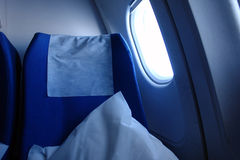 Aircraft seat. Seat inside a aircraft royalty free stock images