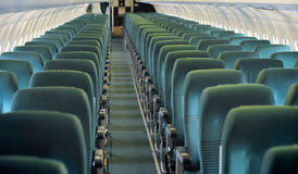 Aircraft seating view Stock Photo