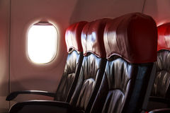 Aircraft Seats Stock Photo