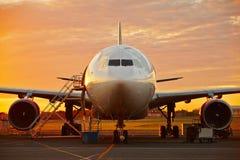 Aircraft service stock photo