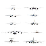 Aircraft set Royalty Free Stock Photos