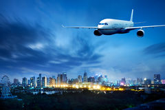 Aircraft on the Shanghai sky Stock Photography