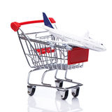 Aircraft in shopping trolley Stock Images