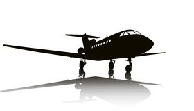 Aircraft silhouette Royalty Free Stock Photography