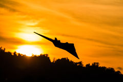Aircraft  Silhouette Stock Photos