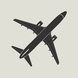 Aircraft silhouette. Top view Royalty Free Stock Photo