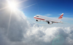 Aircraft in the sky Stock Image