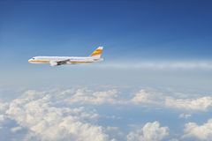 Aircraft in the sky stock photography