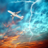 Aircraft in the sky. Eastphoto, tukuchina, Aircraft in the sky, Transportation Royalty Free Stock Photos