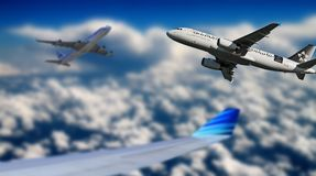 Aircraft, Sky, Fly, Blue, Aviation Royalty Free Stock Photo