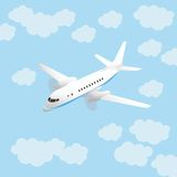 Aircraft and sky Royalty Free Stock Photo