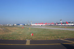 Aircraft stands at the airport Stock Image