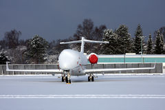 Aircraft stranded in snow Royalty Free Stock Photos