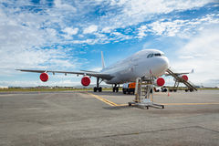 Aircraft on the tarmac. A close-up of planes on the tarmac Aircraft on the tarmac royalty free stock photo