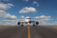 Aircraft on taxiway Royalty Free Stock Image