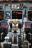Aircraft Throttle. Cockpit Detail, Aircraft Throttle close up Royalty Free Stock Photo
