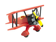 Aircraft toy. Isolated on white background Stock Photos