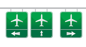 Aircraft traffic sign illustration design Royalty Free Stock Photography