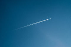 Aircraft trail Royalty Free Stock Images