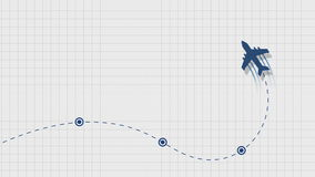 Aircraft trajectory stock video