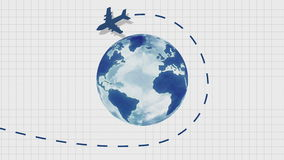 Aircraft trajectory stock video footage
