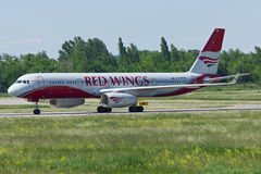 Aircraft Tu-204, Rostov-on-Don, Russia, June 1, 2011 Royalty Free Stock Photos