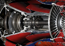 Aircraft turbine 2 Royalty Free Stock Image