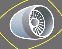 Aircraft  turbine. Stock Photos